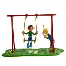 Figurine - Gaston and the elastic swing