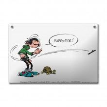 Enamel plaque - Gaston the tortoise trainer