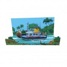 Diorama Marsupilami The boat
