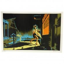 Lucky Luke silkscreen print signed by Matthieu Bonhomme