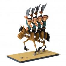 The Daltons on horseback