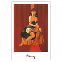 Poster Pin-Up : Les rideaux (not signed)