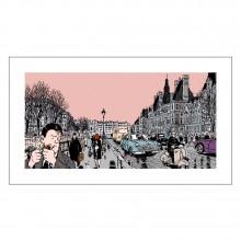 Estampe - Burma - 4e arrondissement (Signée par Tardi)