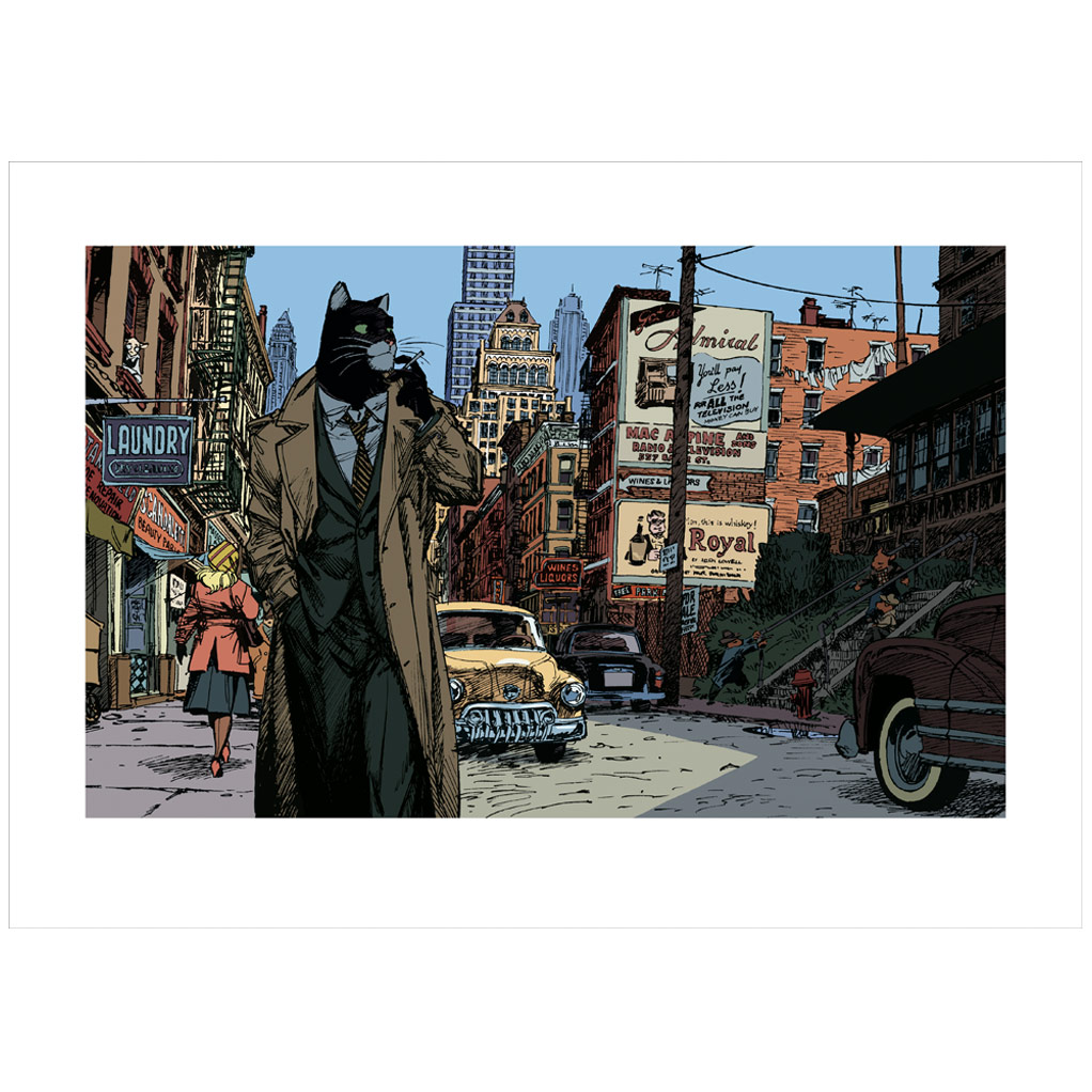 "Estampe pigmentaire BLACKSAD ""New York..."""