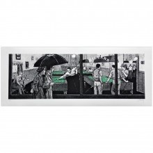 Art print Panoramic pool tables (signed by Gotting)