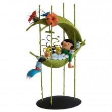 Figurine Gaston dans le nid des bébés Marsu