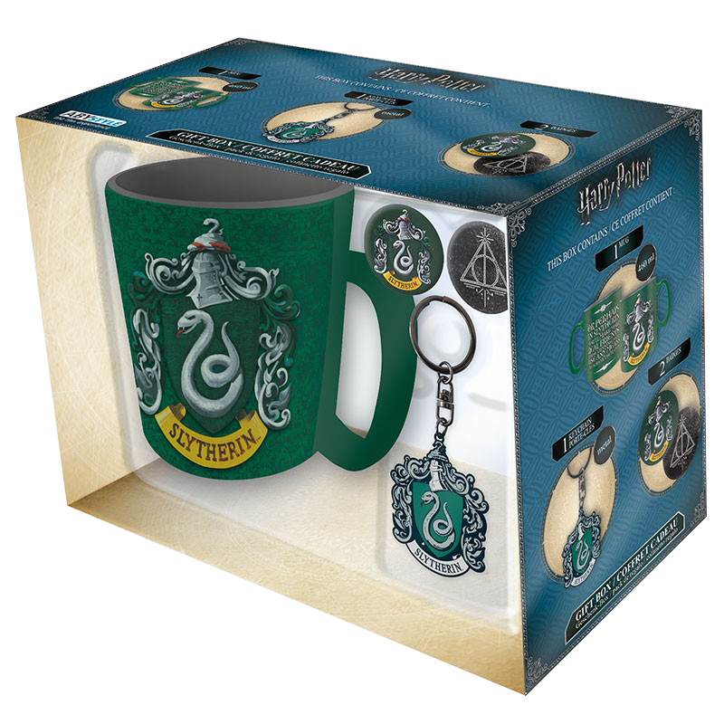 Pack Serpentard (Mug + Porte-cles + Badges)