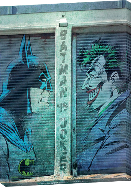 Toile Batman VS Le Joker - DC Comics