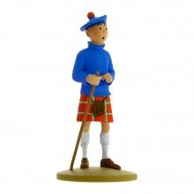 Tintin wearing a kilt