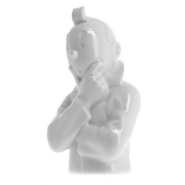 Tintin pense (buste 12 cm)