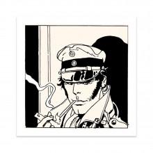 Serigraph Corto Maltese - Cigarette