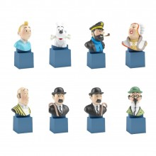Figurines-Collection 8 bustes Tintin