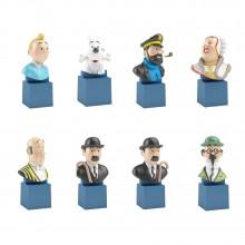 Set of Tintin busts (8 pcs)