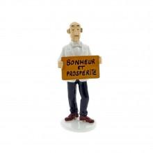 Figurine - Tintin Carte de Voeux 1972 - Nestor 'Bonheur et Prospérité''