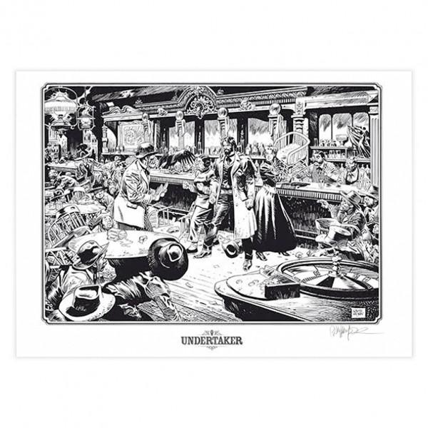 Affiche Undertaker - Le Saloon (signée par Ralph Meyer)