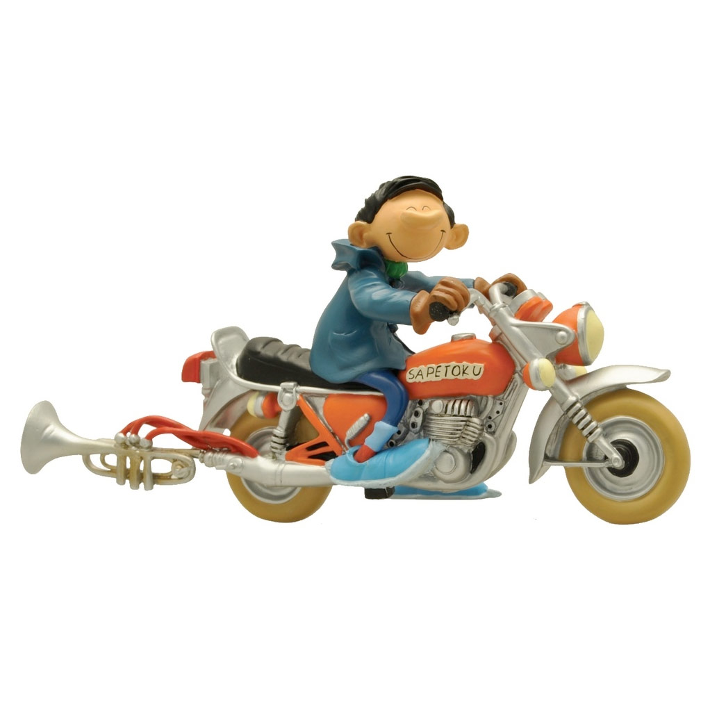 Figurine - Gaston et la moto Sapetoku - Collectoys