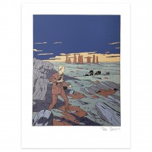 Serigraph - Blake and Mortimer signed by Ted Benoit (1998)