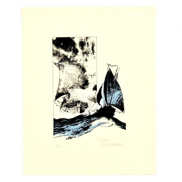Sérigraphie - Battaglia - Les bateaux