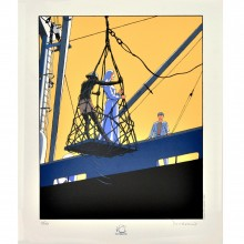 Serigraph Tramp signed by Jusseaume