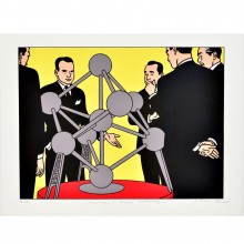 Serigraph - Hommage à André Waterkeyn (signed by Floc'h)