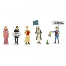 Figurines - Set Carte de Voeux Tintin 1972 (série 7)