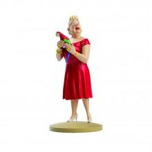 Figurine Castafiore with a parrot
