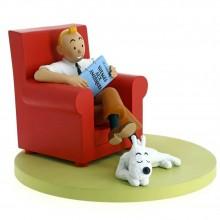 Figurine Tintin and Milou at home