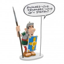 Figurine Asterix The legionary speech balloon