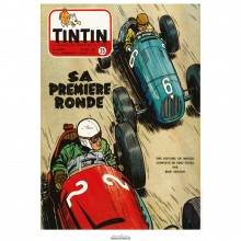 Affiche Jean Graton & Journal Tintin 1953 - N°25