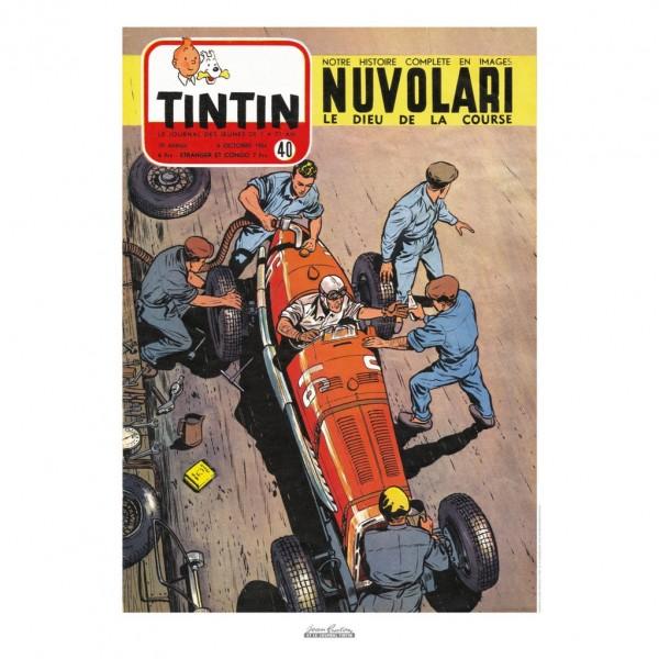 Affiche Jean Graton & Journal Tintin 1954 - N°40