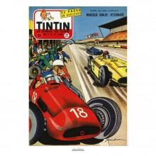 Affiche Jean Graton & Journal Tintin 1957 - N°22
