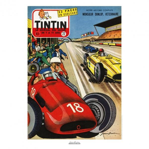 Poster Jean Graton & Journal Tintin 1957 N°22
