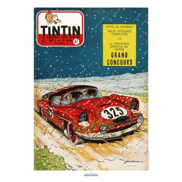 Affiche Jean Graton & Journal Tintin 1957 - n°47
