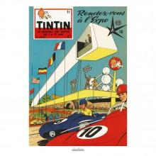 Affiche Jean Graton & Journal Tintin 1958 - n°01