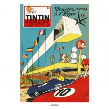 Poster Jean Graton & Journal Tintin 1958 n°01