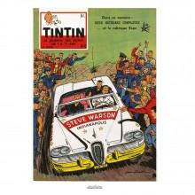 Poster Jean Graton & Journal Tintin 1958 n°06