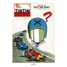 Affiche Jean Graton & Journal Tintin 1959 - n°19