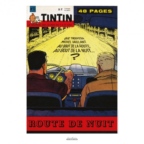 Poster Jean Graton & Journal Tintin 1960 n°13