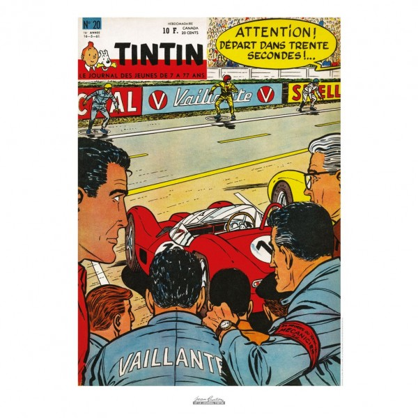 Affiche Jean Graton & Journal Tintin 1961 - n°20