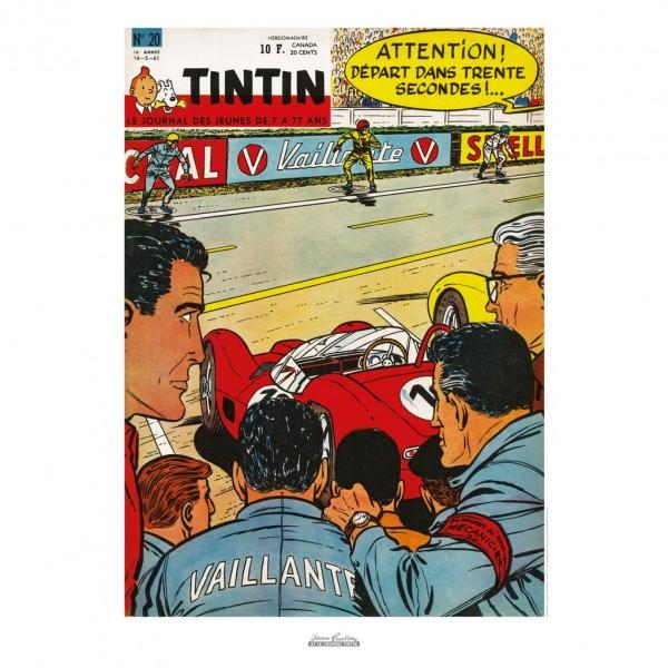 Poster Jean Graton & Journal Tintin 1961 n°20