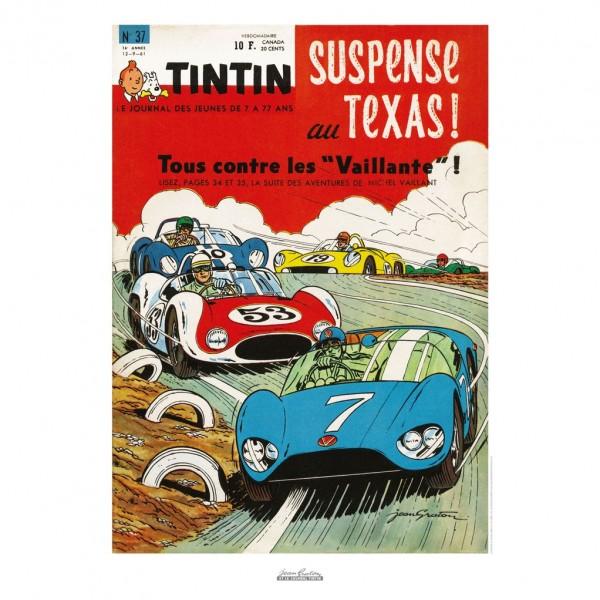 Poster Jean Graton & Journal Tintin 1961 n°37