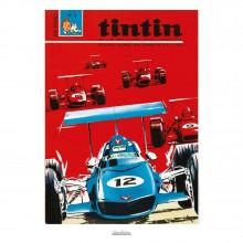 Affiche Jean Graton & Journal Tintin 1969 - n°02