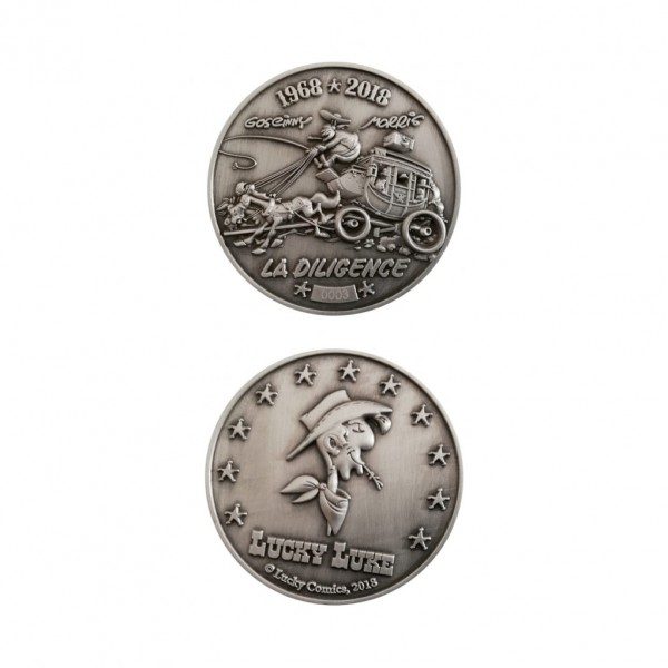 Médaille Lucky Luke - La Diligence 50 ans