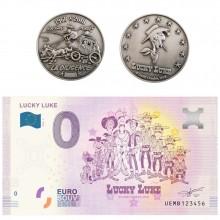 Lot Billet et Médaille Lucky Luke