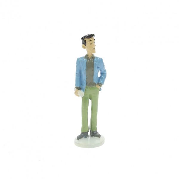 Figurine Tintin 1972 greeting card The journalist