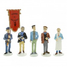 Lot carte de voeux Tintin 1972 (série 8)