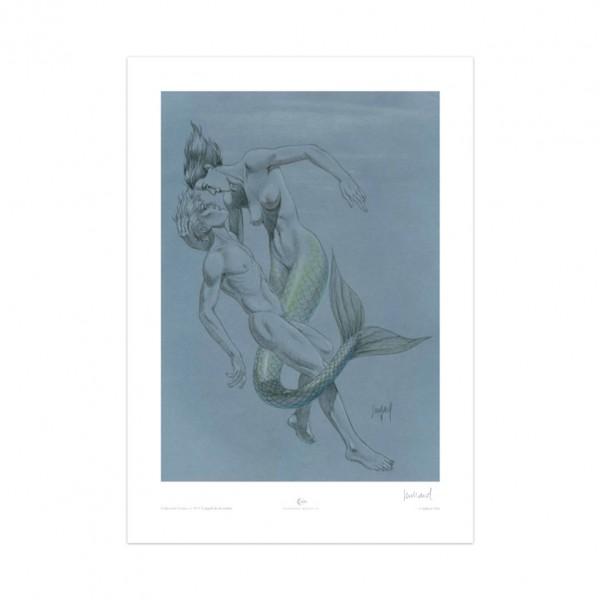 Estampe L'appel de la sirène (signée par Juillard)