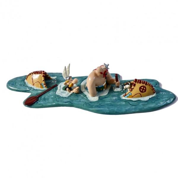 Figurine Astérix et Obélix sunking canoe (Pixi)