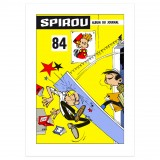 Silkscreen print Journal Spirou 84