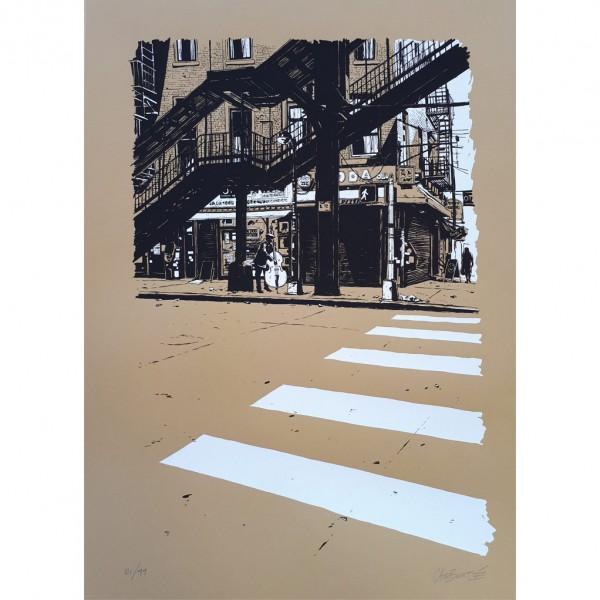 Silkscreen print Chabouté New York (signed)